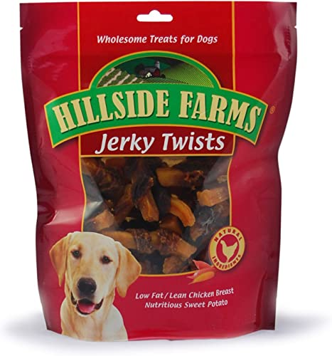 Hillside Farms Filler Free Chicken Jerky Sweet Potato Twists, Premium Treats for Dogs, 32-Ounce Bag