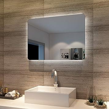 Badspiegel Lichtspiegel Led Spiegel Wandspiegel Mit Sensor Schalter