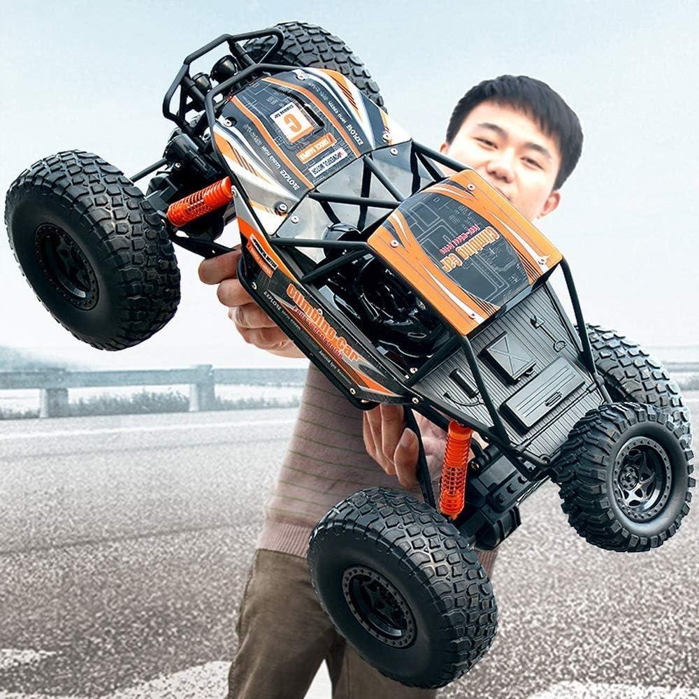 IBalody Coche de Control Remoto Todoterreno de Gran tamaño SUV RC Carga en Las Cuatro Ruedas Carga de Alta Velocidad Vehículo de Carreras Modelo Niño Juguetes Regalos para niños 3+