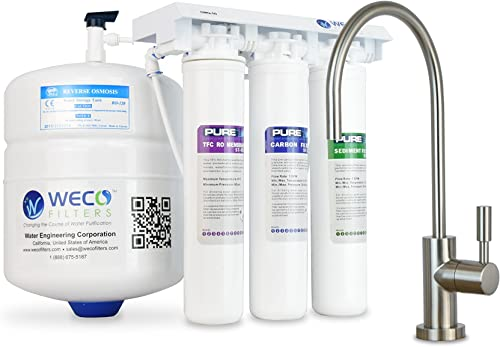 WECO GMQ-50 Ultra Compact EZ Twist Under Sink Reverse Osmosis Drinking Water Purification System
