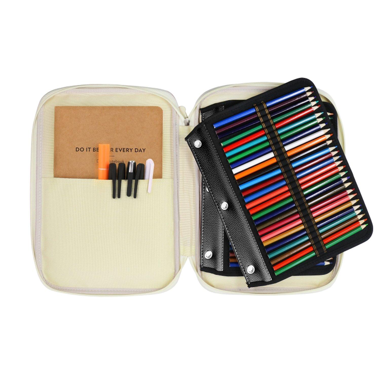 youshares 54 slots pencil sleeve standard 3 ring binder designed