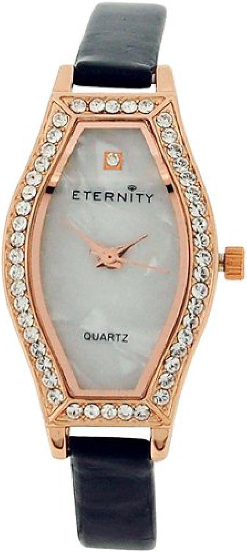 Amazon.com: Eternity Ladies Watch Made with Swarovski Crystals MOP ...