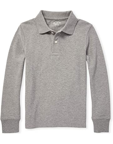 d489b956 The Children's Place Boys' Long Sleeve Uniform Polo