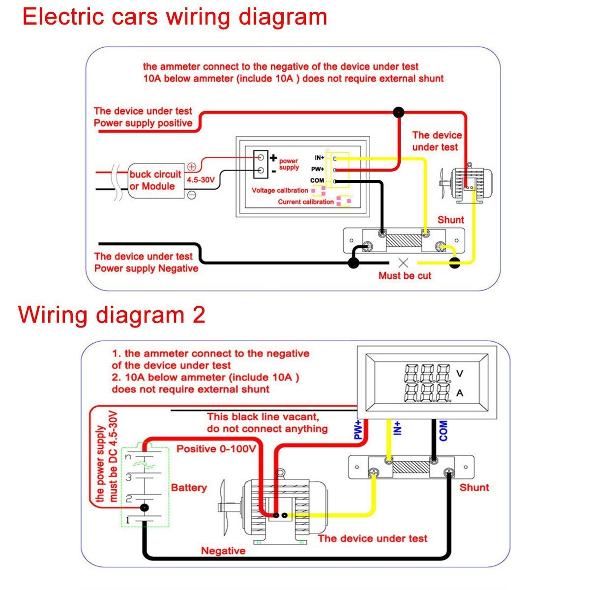 Dc Ammeter Shunt Wiring Diagram - Diagrams Catalogue on