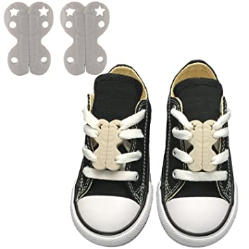 3d8223d3b892 Amazon.com  Zoomie s Magnetic Shoe Closures No - Tie Shoelaces - Never Tie  Laces Again - Creative and Easy Shoelace Locks For Kids  Clothing