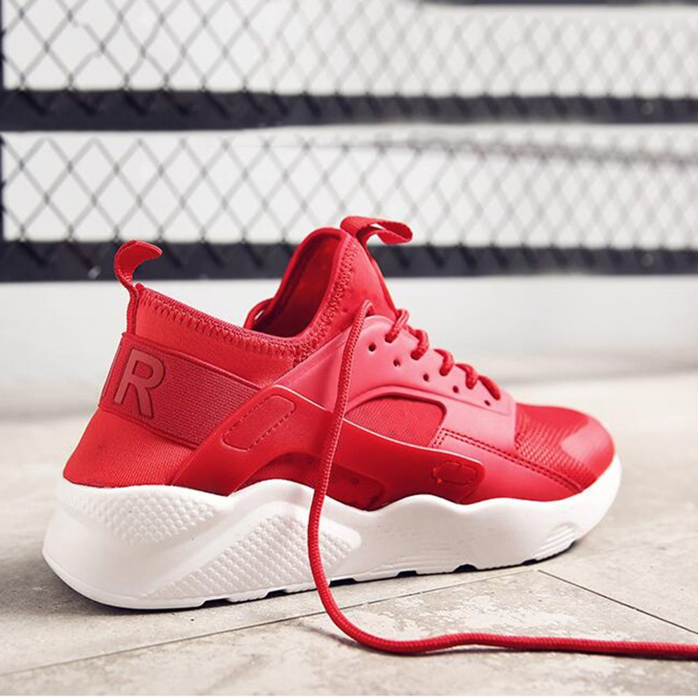 YIXINY Deporte Zapato Calzado De Hombre Zapatillas De Correr Deportes Al Aire Libre Baloncesto Ocio Zapatillas De Deporte Entrenamiento Spring ( Color : Rojo , Tamaño : EU42/UK8.5/CN43 ) EU42/UK8.5/CN43|Rojo