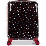 Lulu Guinness Hardside Spinner Suitcase, 56 cm, Black