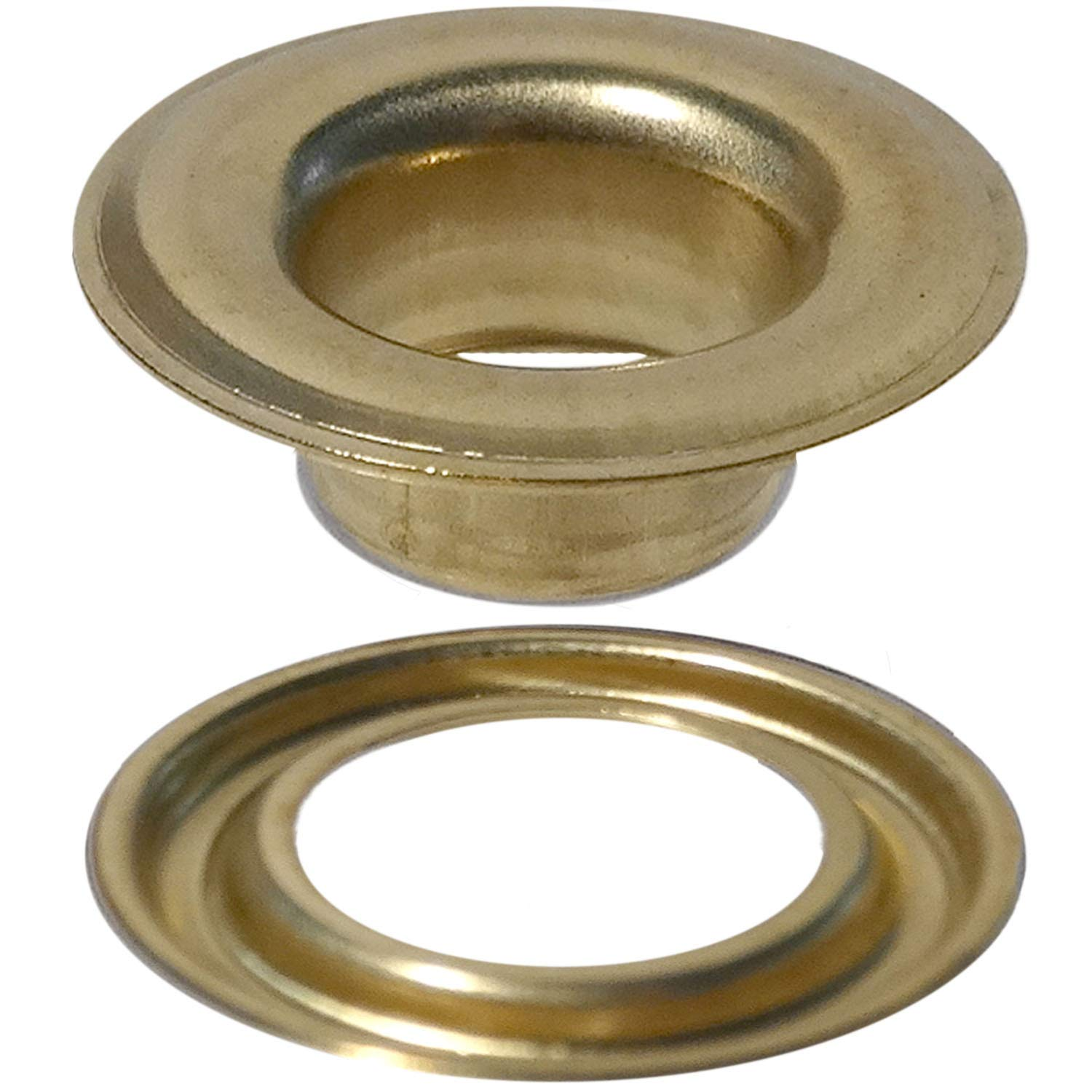 Stimpson Self-Piercing Grommet and Washer Brass Reliable, Durable, Heavy-Duty #3 Set (300 Pieces of Each)