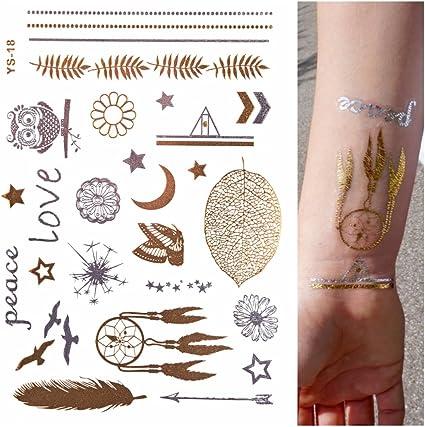 ORO Tatuaje, Flash De Tatuaje, Tatuajes temporales, Atrapasueños ...