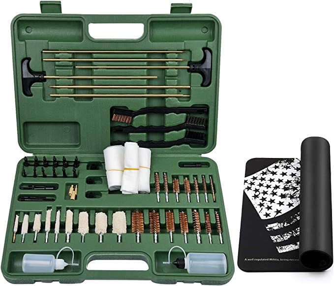 Best Gun Cleaning Kit : IUNIO Universal Gun Cleaning Kit