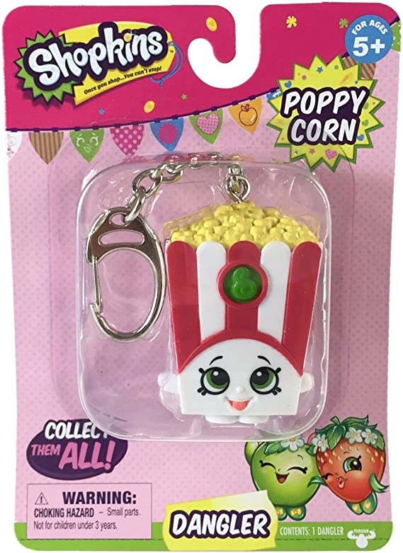 Shopkins Dangler Keyring Choice of Character One Supplied NEW