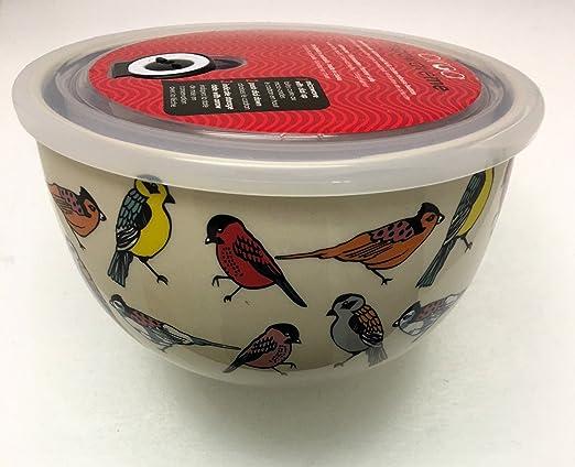 Ciroa Microwaveme Fine porcelana grande microondas cuenco con tapa ...