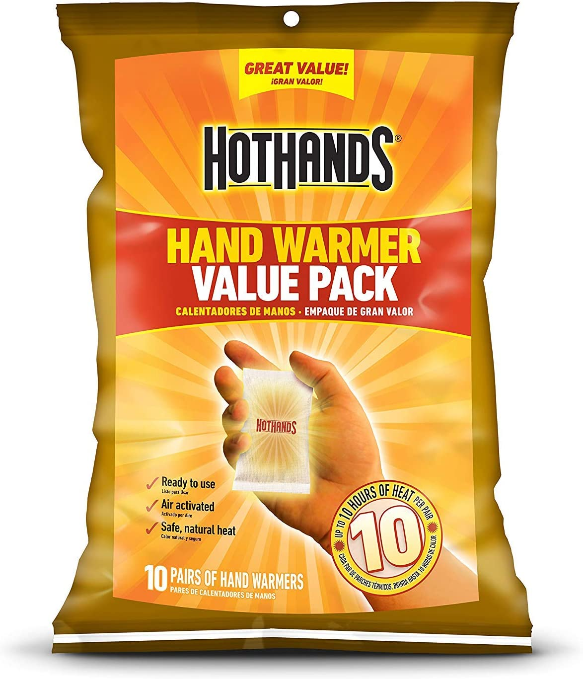 Long Lasting Safe Natural Odorless Air Activated Warmers HotHands Hand Warmers