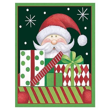 caspari santa presents boxed christmas cards 16 cards 16 envelopes