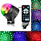 Disco Ball Strobe Light Party Lights Disco Lights Karaoke Machine 3W Dj Light LED Portable 7Colors Sound Activated Stage…