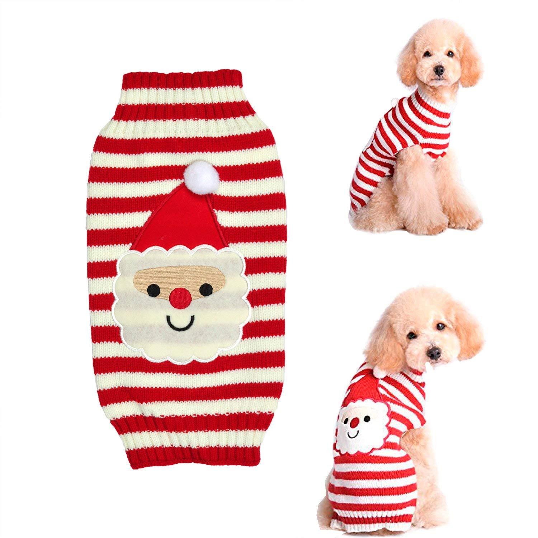 Raking Christmas Algodón hecho punto Perro Hoody Cuello Suéter Traje ...