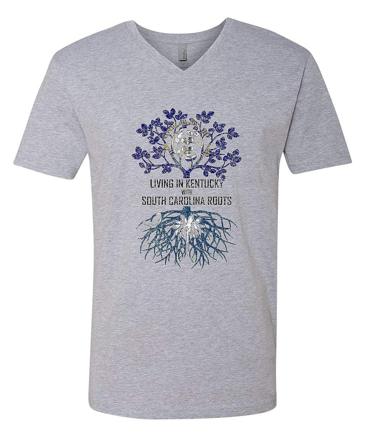Tenacitee Mens Living in Kentucky South Carolina Roots T-Shirt