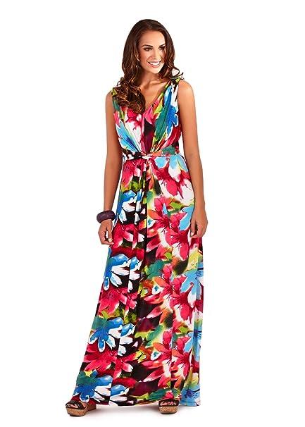 fa00ce1e279 Lora Dora Womens V Neck Maxi Dress: Amazon.co.uk: Clothing