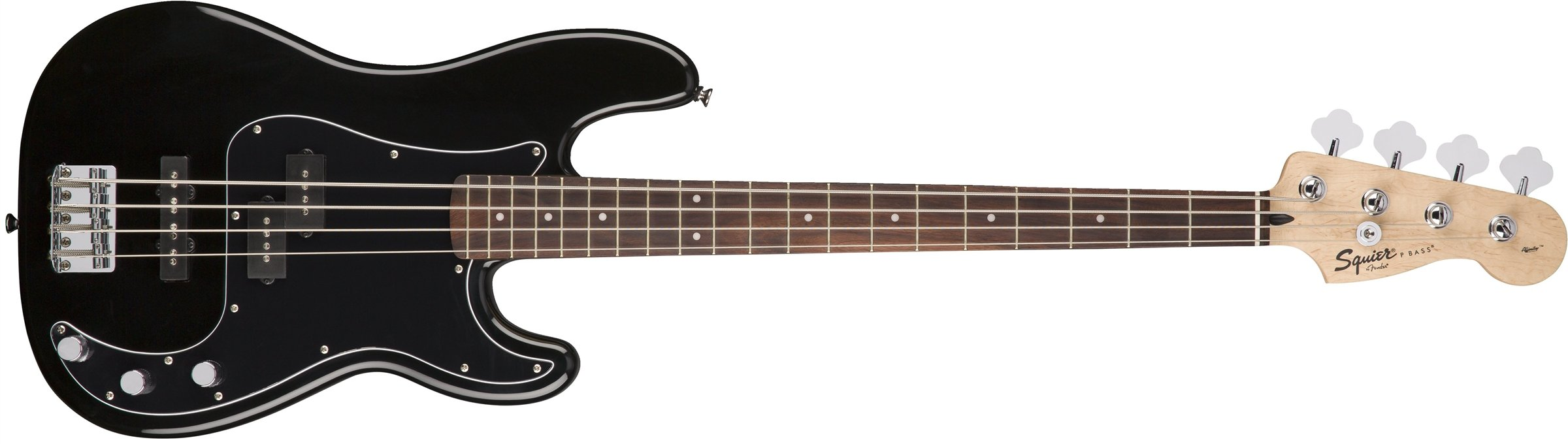 Squier by Fender Affinity Series Precision Bass PJ Beginner Pack, Laurel Fingerboard, Black, with Gig Bag, Rumble 15 Amp, Strap, Cable, and Fender Play by Fender (Image #3)