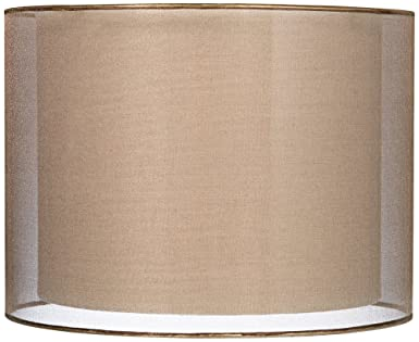 Sheer bronze double lamp shade 12x12x9 spider amazon sheer bronze double lamp shade 12x12x9 spider aloadofball Choice Image