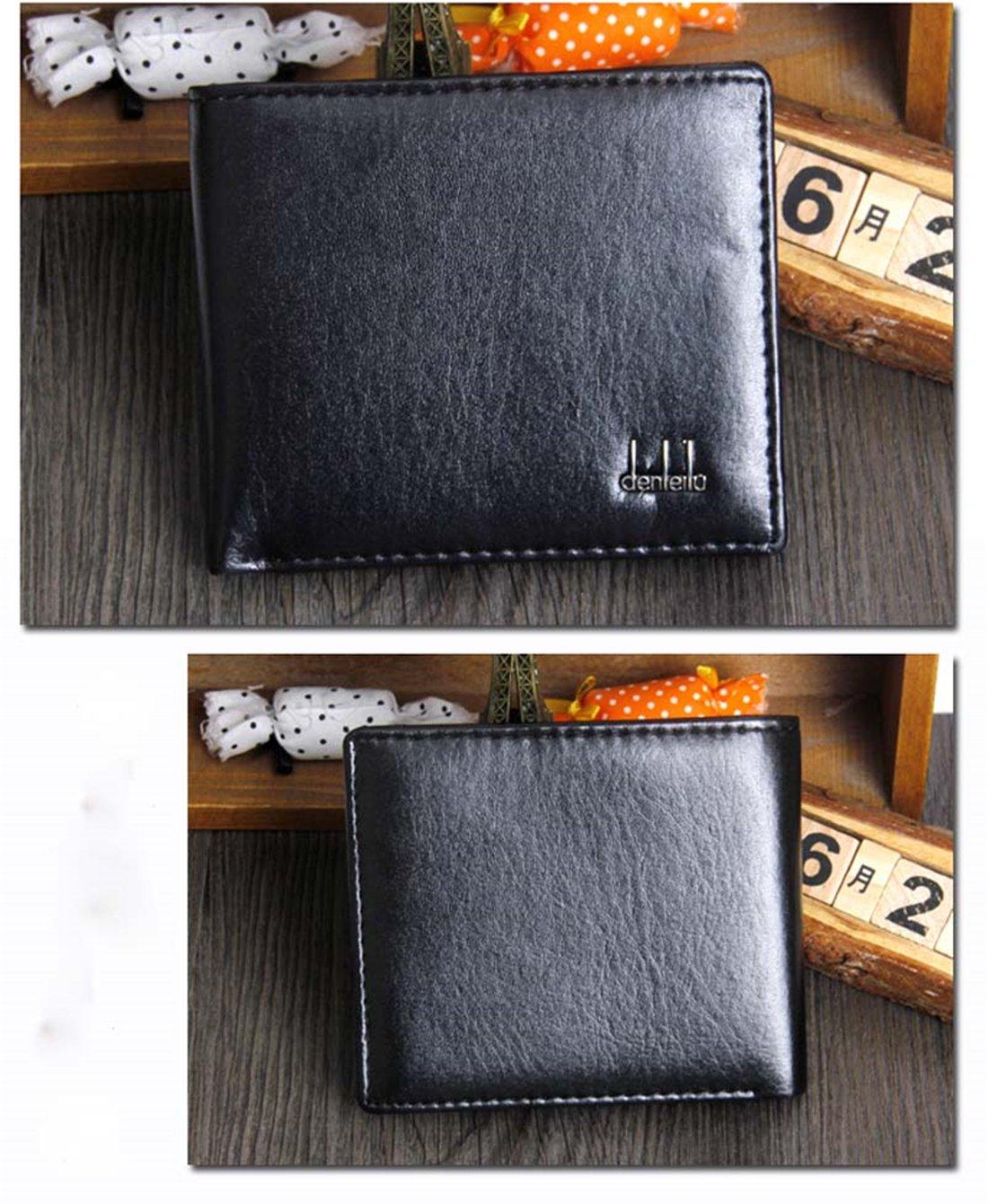 Hemlock Bifold Business Wallets, Men Leather Wallet Credit Card Holder Pocket Purse (Black) by Hemlock (Image #2)