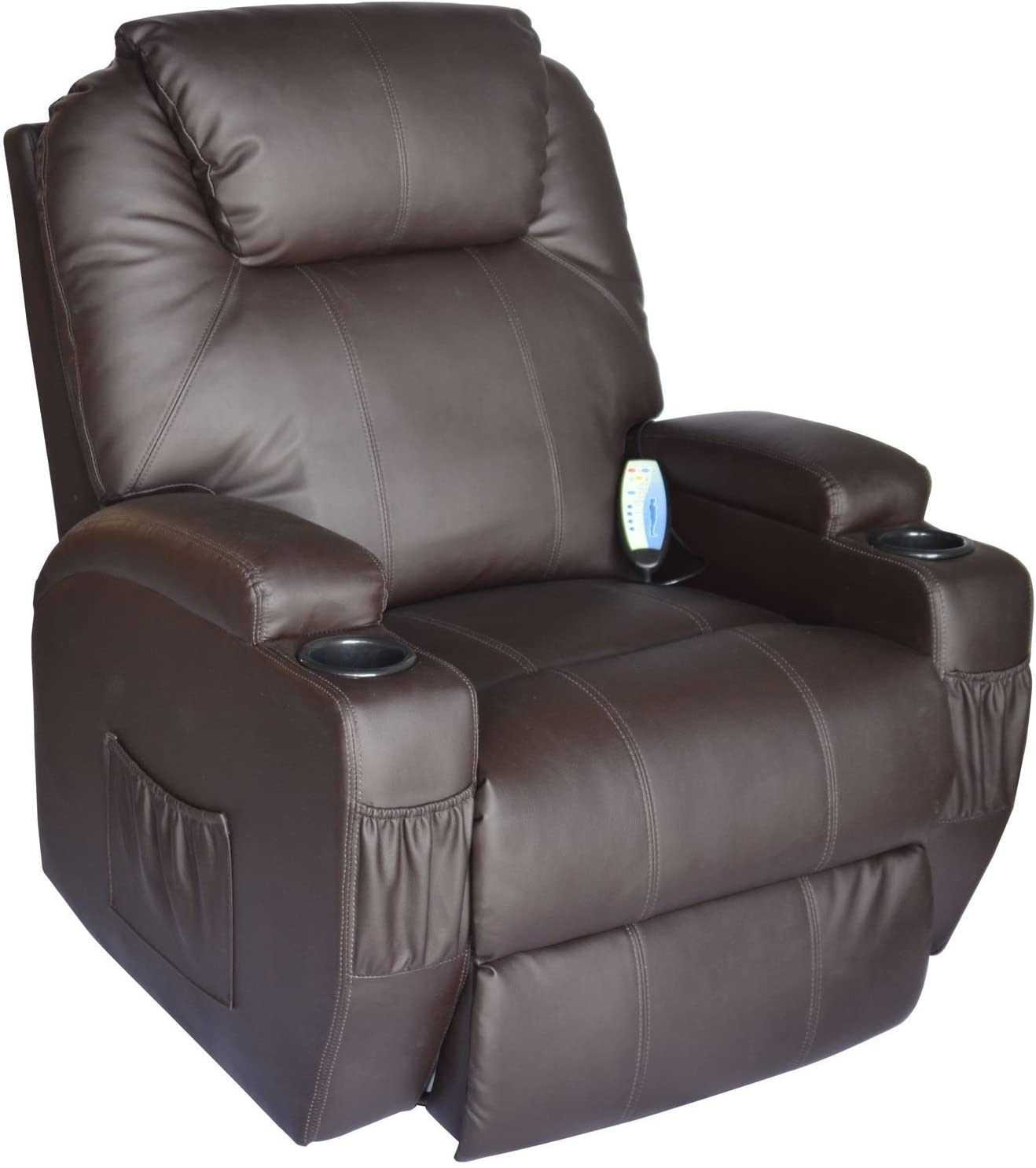 Cavendish electric recliner chair with heat massage choice of colours (Brown)