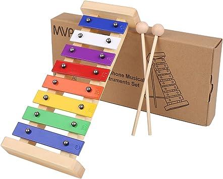 MVPower Xilofono Colorato di Legno Giocattoli Musicali per Bambini,Percussioni per Bambini,Educativo Giochi Musicali per Bambino delle Ragazze dei