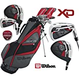 Wilson Mens XD Profile Golf Set NEW FOR 2018 Steel Shafted Irons & Graphite Shafted Woods FREE Umbrella & Society Tee Pack worh £24.00