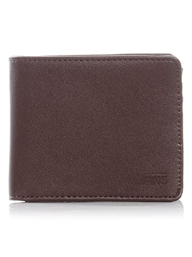 1c866b29f5 Image Unavailable. Image not available for. Color  Vans Dark Brown Drop V  Bifold Wallet (Default ...
