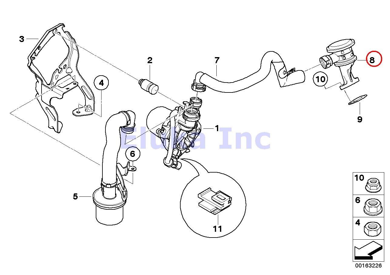 Bmw Oem Emission Control Air Pump Secondary 328i Engine Diagram Cyl 3 Injection Valve 128i 328xi