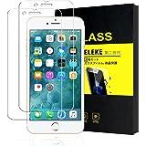 【第二世代】ELEKE iPhone7 ガラスフィルム (2枚セット) 強化ガラス 薄さ0.3mm全面保護 【高透明 /硬度9H / 指紋防止 / 防止気泡】