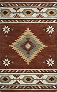Rizzy Home Southwest Hand-Tufted Area Rug 9 Ft. X 12 Ft. Brown