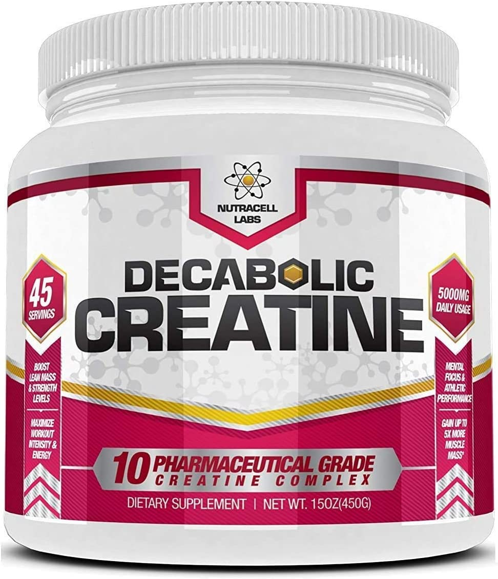 Decabolic Creatine Advanced 10 Blend Creatine ** Pure Micronised - Muscular Strength, Growth and Development Supplement