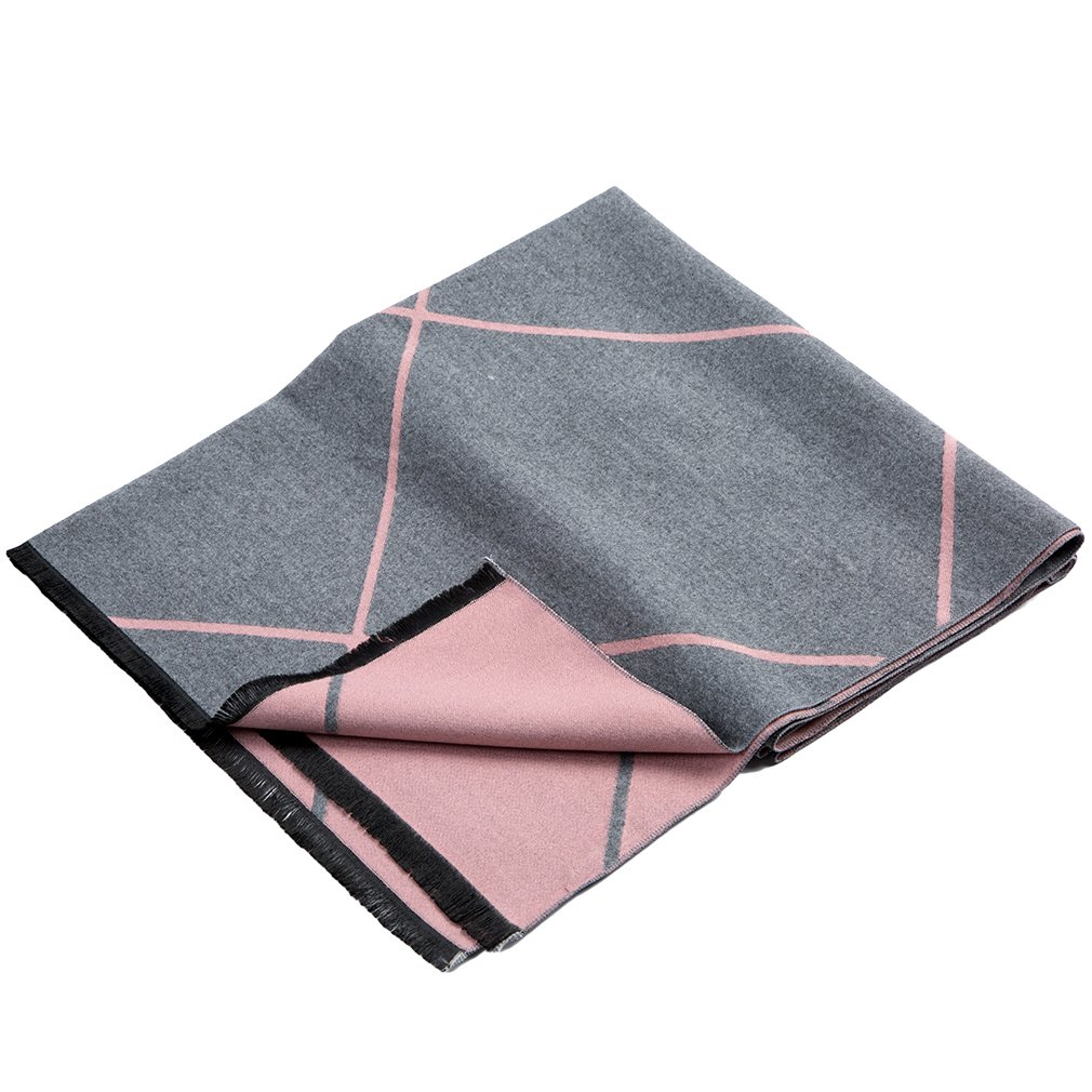 Plaid Women Girls Scarf Shawls Blanket Wrap Cape Poncho for Women Double Side