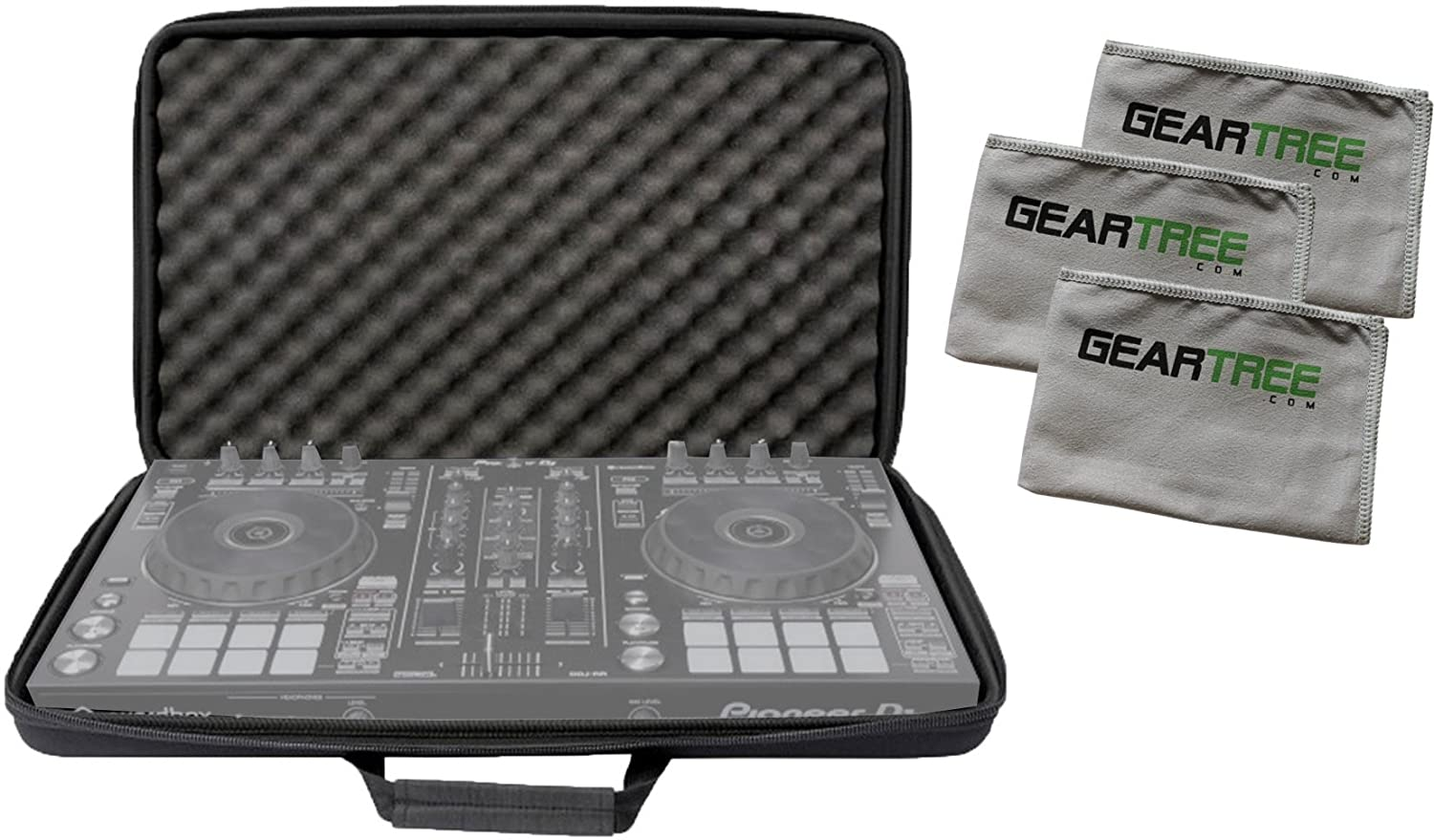 Magma Mixware CTRL DDJ-SR2/RR Case Bundle w/Cloth 3-Pack