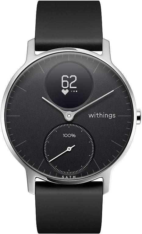 Withings Steel HR - Reloj inteligente híbrido con seguimiento de la actividad por GPS, control de la frecuencia cardíaca, seguimiento del sueño, ...