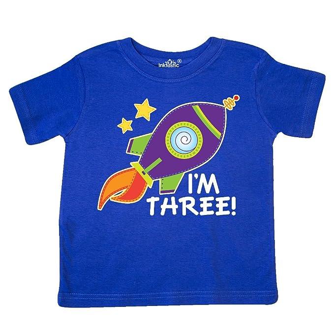 b9fb271d0 inktastic - 3rd Birthday Space Rocket Boys Toddler T-Shirt 2T Royal Blue  29beb