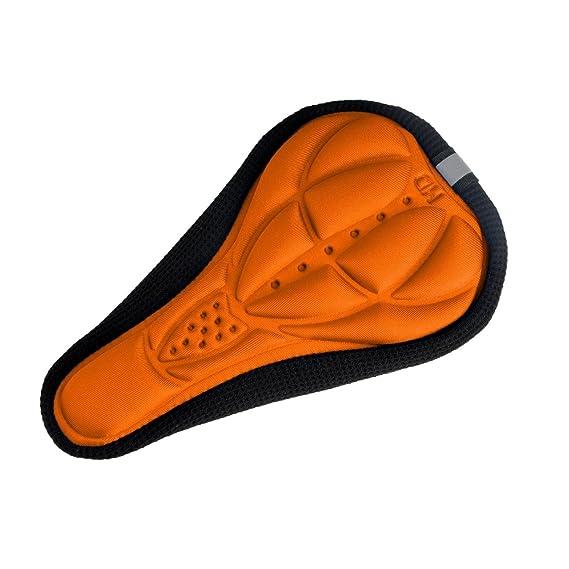 Ideal Shoes Nueva Funda COJIN para Bicicleta Almohadilla Extra Comfort DE Gel para LA COMIDIDAD del SILLIN Color Naranja