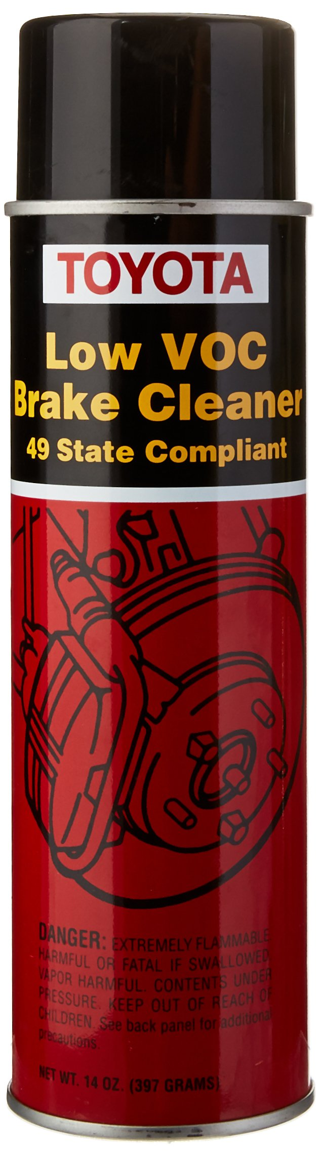 Toyota Genuine Fluid 00289-2BC00-CA Non-Chlorinated Low VOC Brake Cleaner - 14 oz. Can
