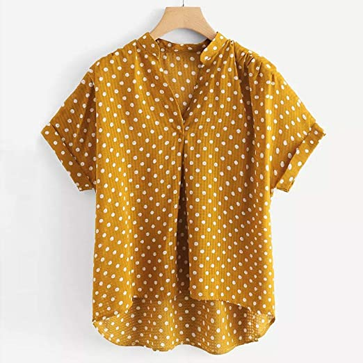 YpingLonk Top de Camiseta para Mujer, Camiseta de Manga Corta y ...