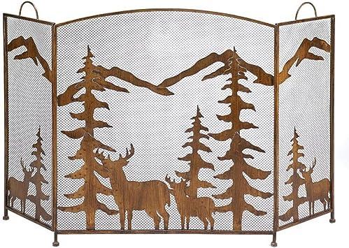 Pantalla de la chimenea American Screen Extensible Chimenea, Elk ...