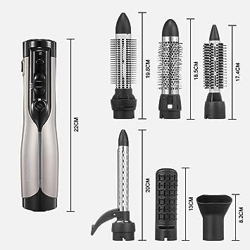 Cepillo de aire caliente FAMINESS Secador de cabello One Step Salon Hair Dryer & Voluminizador Cepillo alisador de iones negativos 3 en 1 y peine de ...