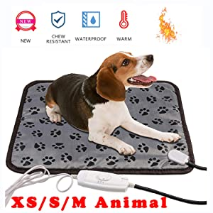 wangstar Pet Heat Pad for Pets Dogs Cats Indoor Warming Mat Waterproof Chew Resistant
