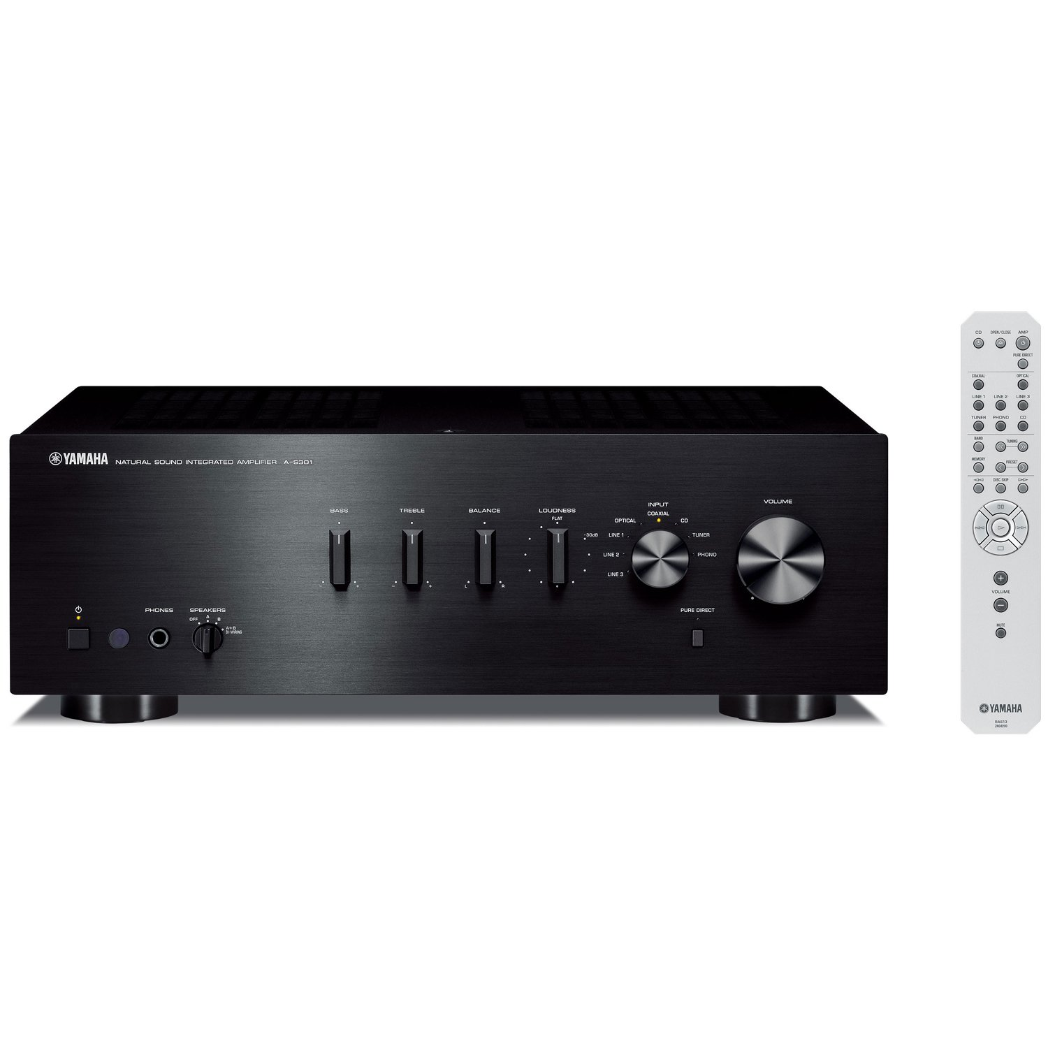 Yamaha A-S301BL Natural Sound Integrated Stereo Amplifier (Black) by Yamaha Audio