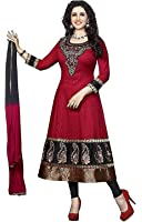 Globalia Creation Women's Cotton Salwar Suit Set (GOL-034E112_Beige_Free Size)
