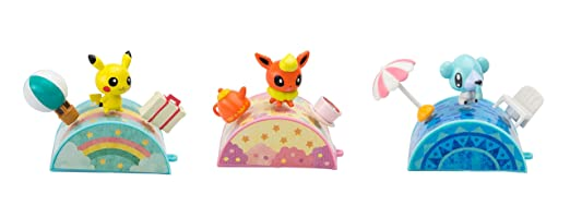 Pokémon Petite Pals Figure Bundle Pack:, Pikachu, Flareon And Chubchoo