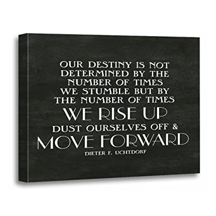 Amazon.com: TORASS Canvas Wall Art Print Lds Rise Up Move ...