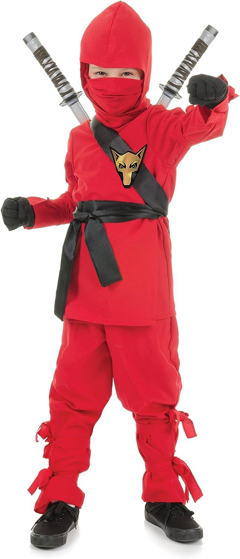 Underwraps Costumes Childrens Red Ninja Costume, Medium 6-8 Childrens Costume