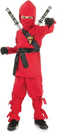 Tiger Ninja Red Black Child Costume NEW