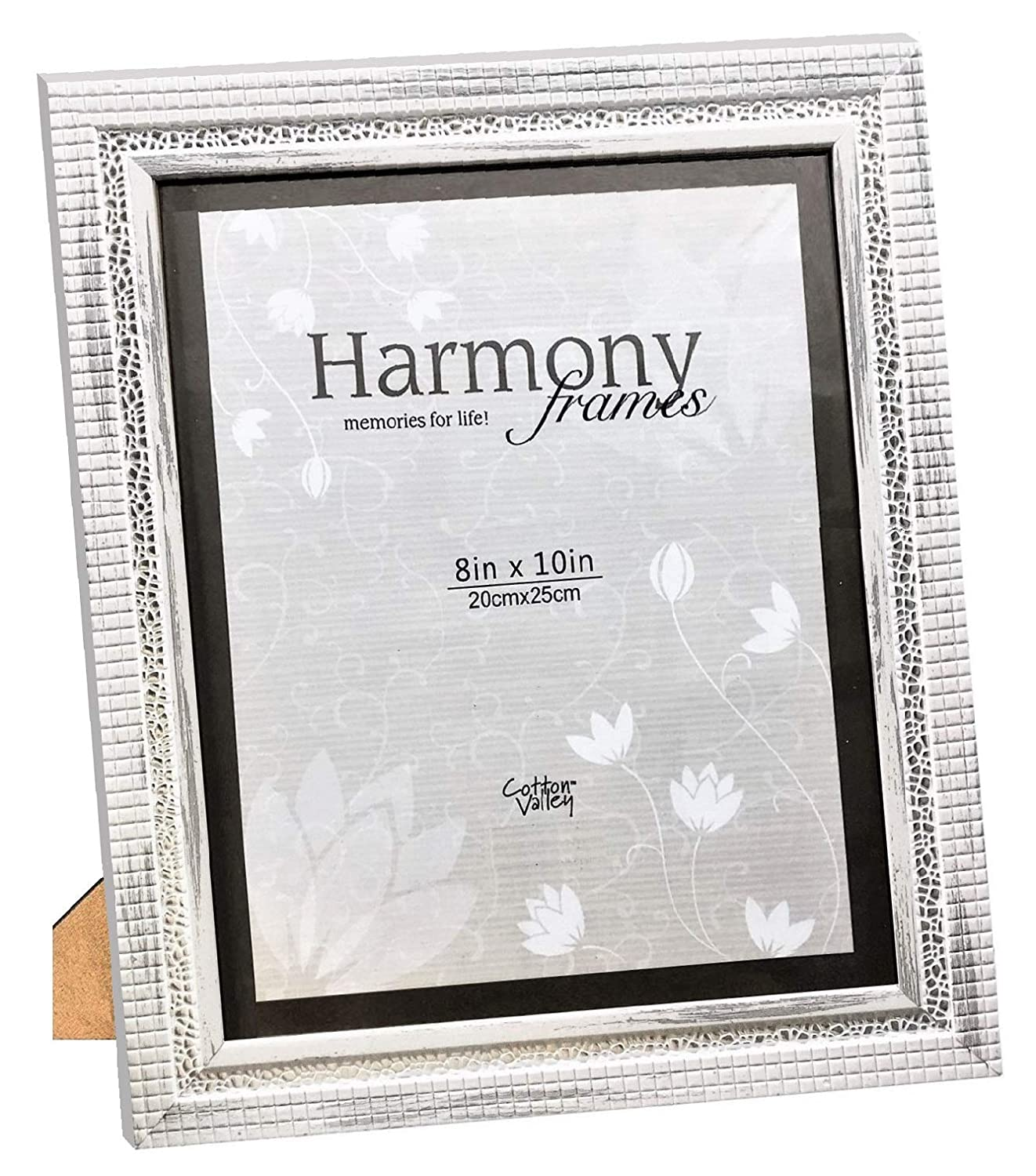 Distressed Off White Harmony Frames 8x10 Mosaic Wood Picture Frame Gallery Display Wall and Tabletop